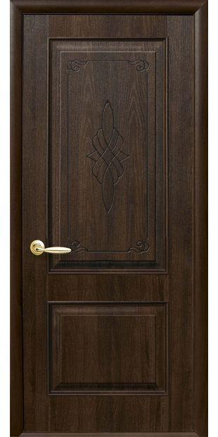 Межкомнатные двери Вилла глухое с гравировкой villa-25