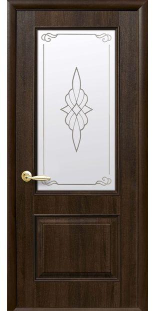Межкомнатные двери Вилла со стеклом сатин и рисунком villa-26