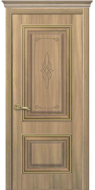 Межкомнатные двери Вилла Премиум глухое с гравировкой Gold villa-premium-10