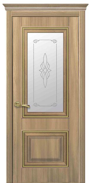 Межкомнатные двери Вилла Премиум со стеклом сатин и рисунком villa-premium-12