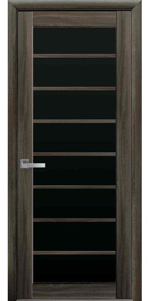 Межкомнатные двери Виола с черным стеклом viola-1