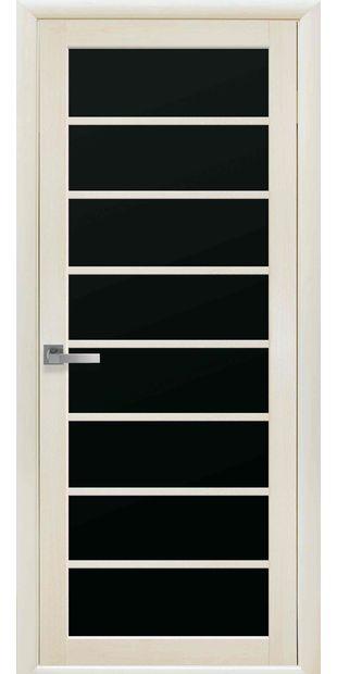 Межкомнатные двери Виола с черным стеклом viola-11