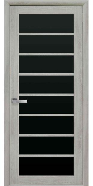 Межкомнатные двери Виола с черным стеклом viola-13