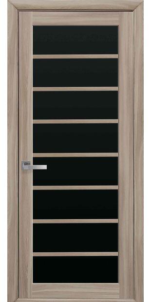 Межкомнатные двери Виола с черным стеклом viola-3
