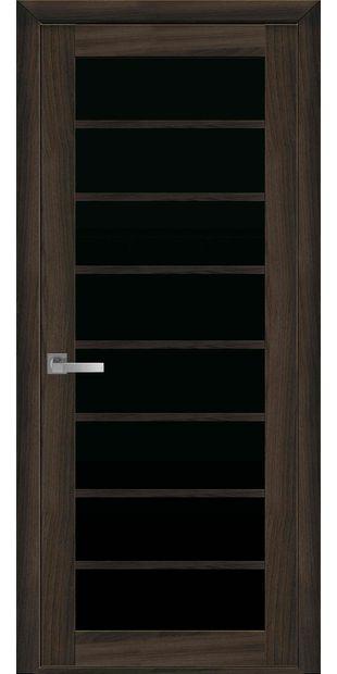 Межкомнатные двери Виола с черным стеклом viola-9