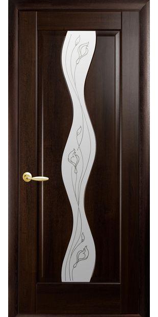 Межкомнатные двери Волна со стеклом сатин и рисунком volna-10