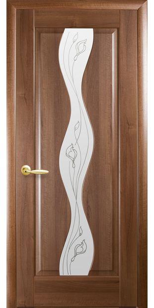 Межкомнатные двери Волна со стеклом сатин и рисунком volna-12