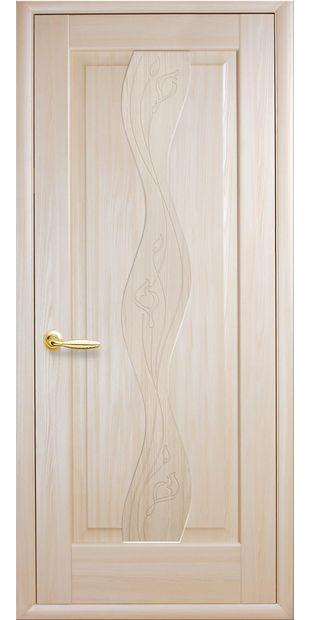 Межкомнатные двери Волна глухое с гравировкой volna-38