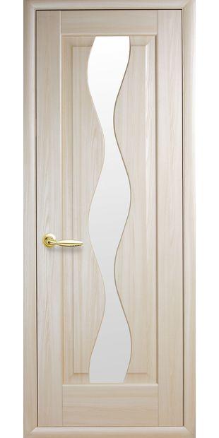 Межкомнатные двери Волна со стеклом сатин volna-46