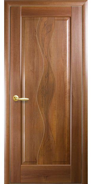 Межкомнатные двери Волна глухое с гравировкой volna-5