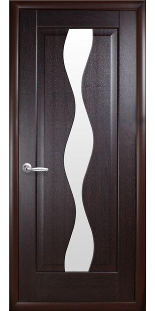 Межкомнатные двери Волна со стеклом сатин volna-52