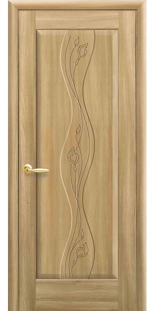 Межкомнатные двери Волна глухое с гравировкой volna-59