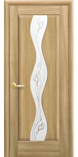 Межкомнатные двери Волна со стеклом сатин и рисунком Р2 volna-62