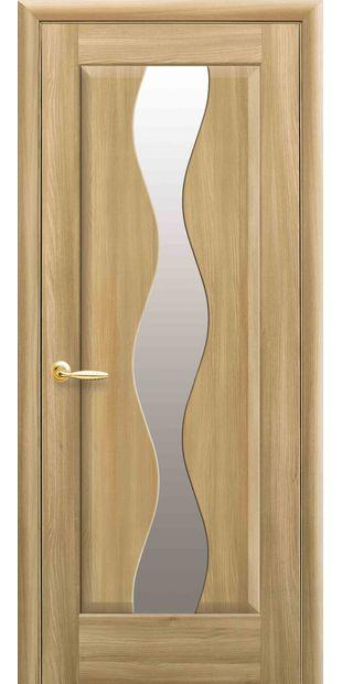 Межкомнатные двери Волна со стеклом сатин volna-63