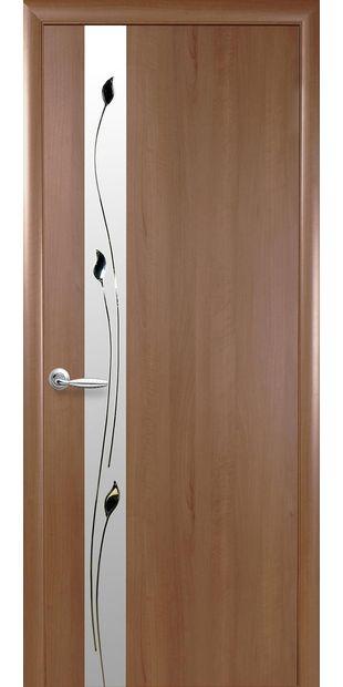 Межкомнатные двери Злата со стеклом сатин и рисунком zlata-1