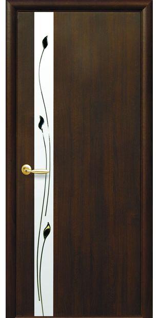 Межкомнатные двери Злата со стеклом сатин и рисунком zlata-7