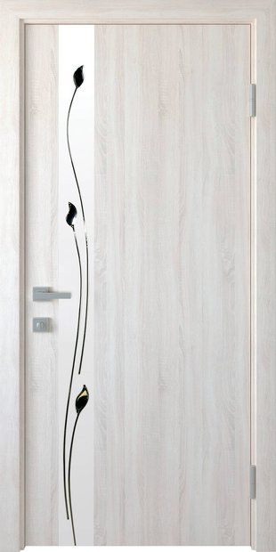 Межкомнатные двери Злата со стеклом сатин и рисунком zlata-8