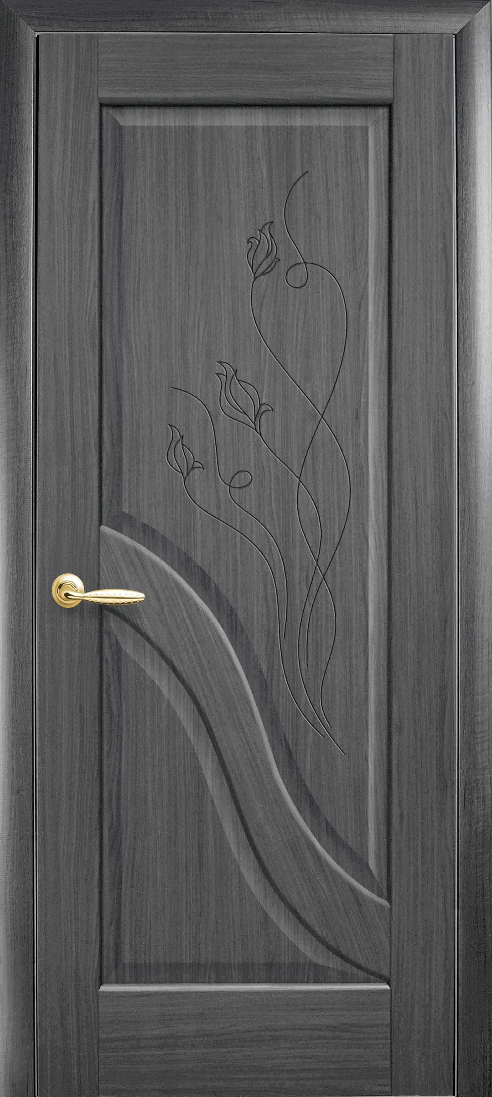 Межкомнатные двери Амата глухое с гравировкой