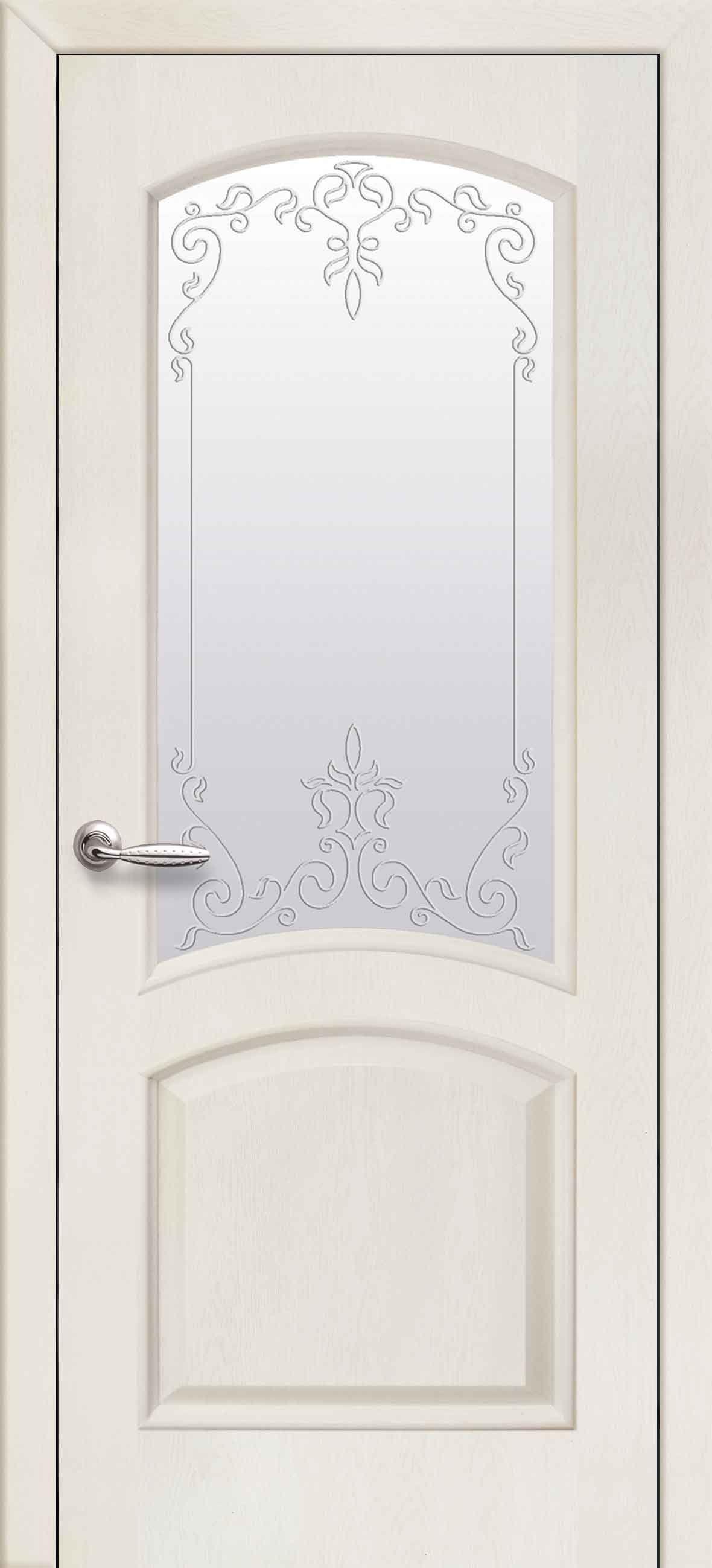 Межкомнатные двери Антре со стеклом сатин и рисунком Р2