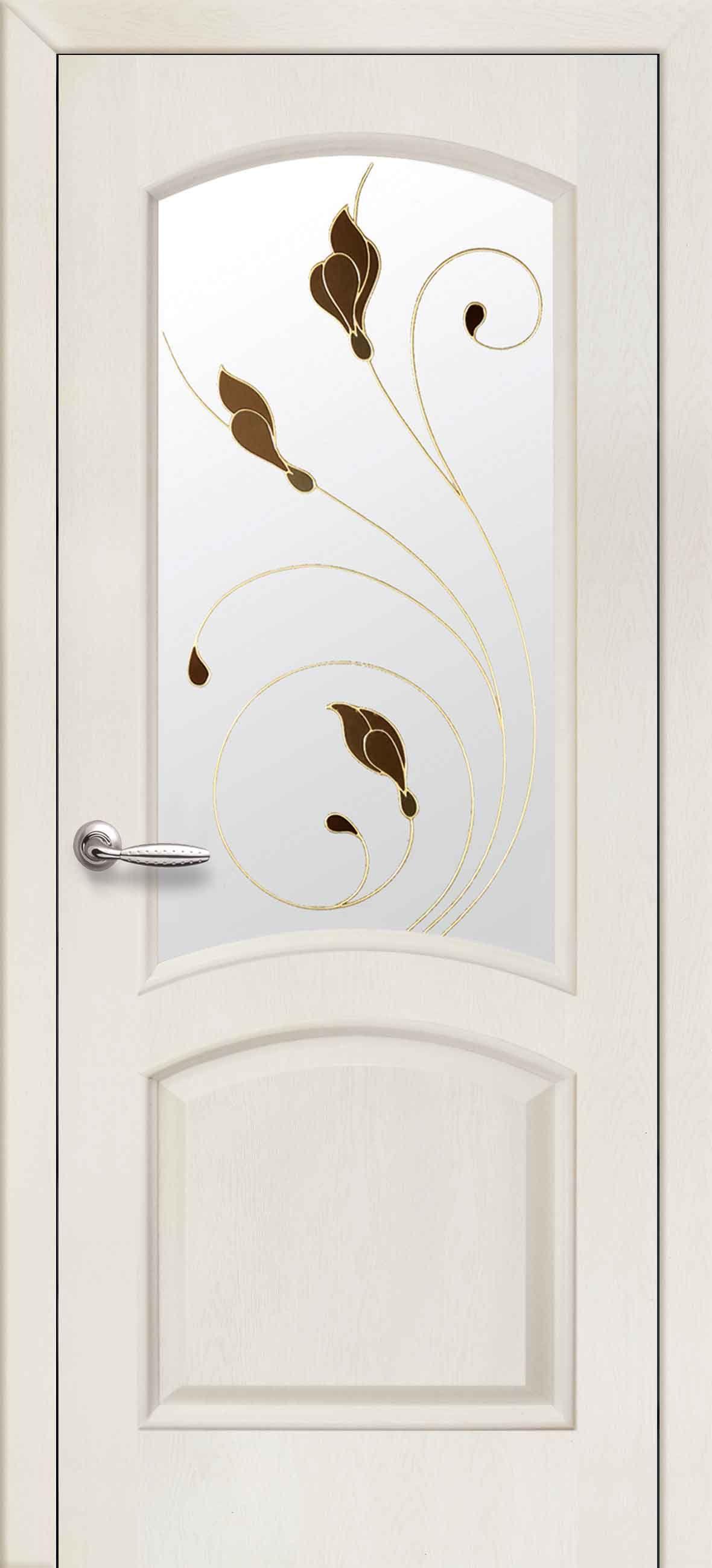 Межкомнатные двери Антре со стеклом сатин и рисунком Р1