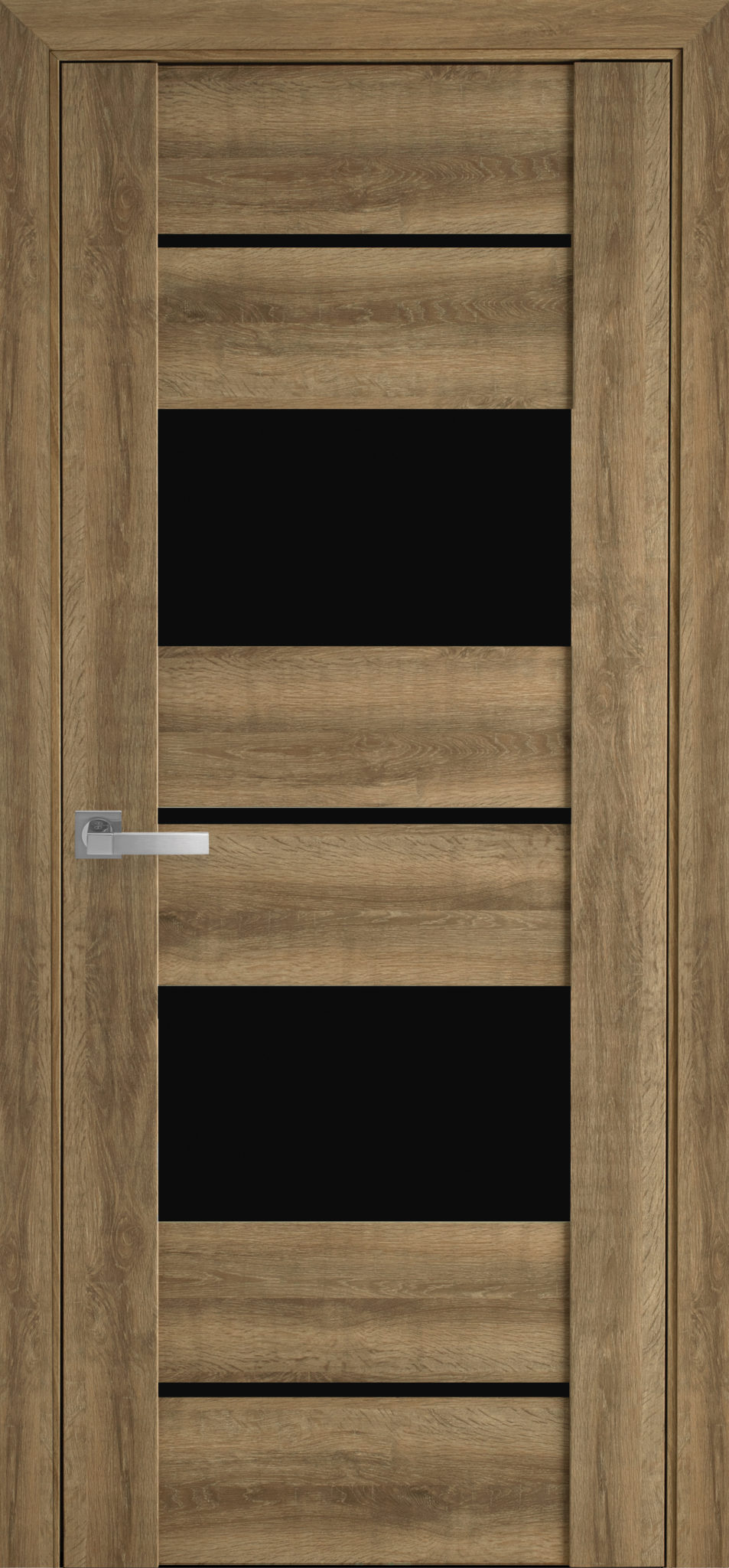 Межкомнатные двери Аскона с черным стеклом