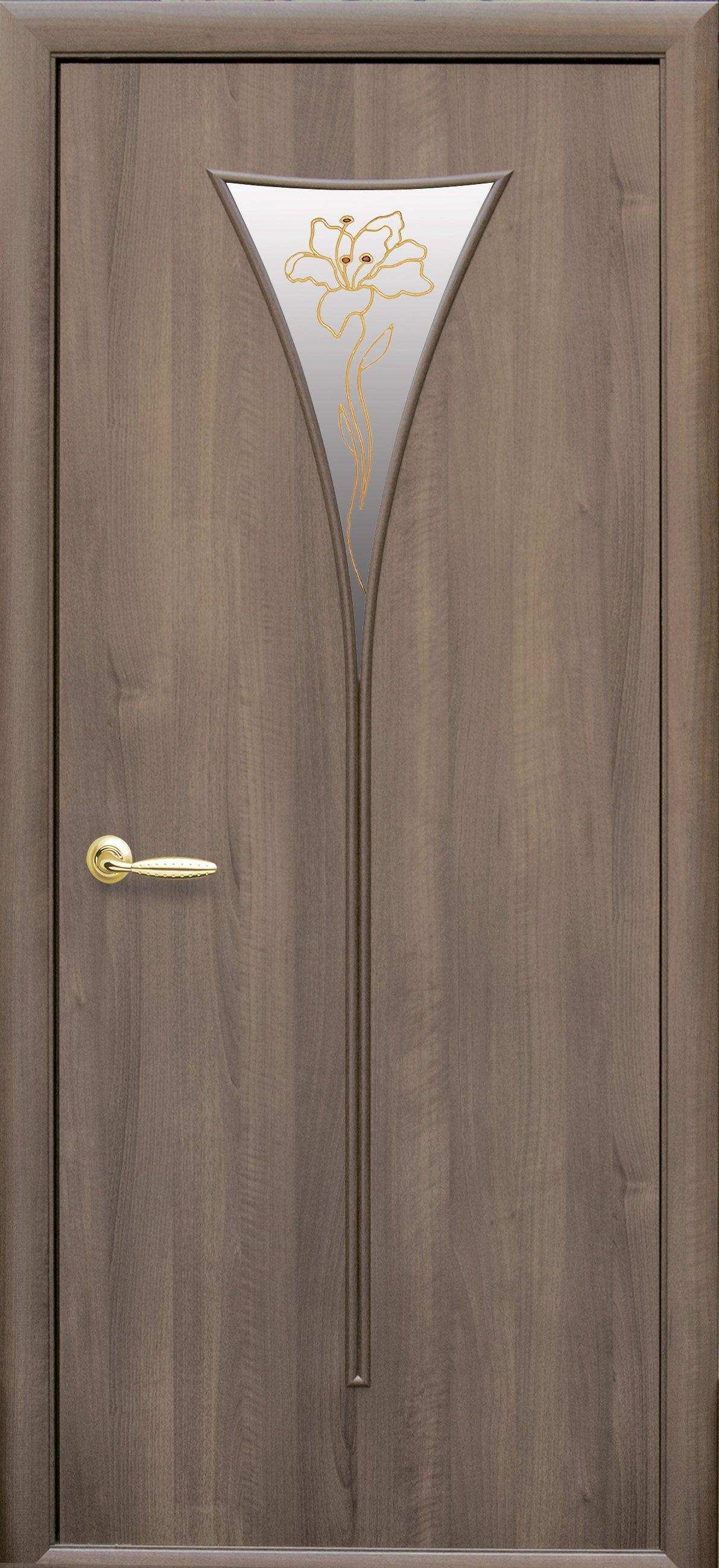 Межкомнатные двери Бора со стеклом сатин и рисунком Р1