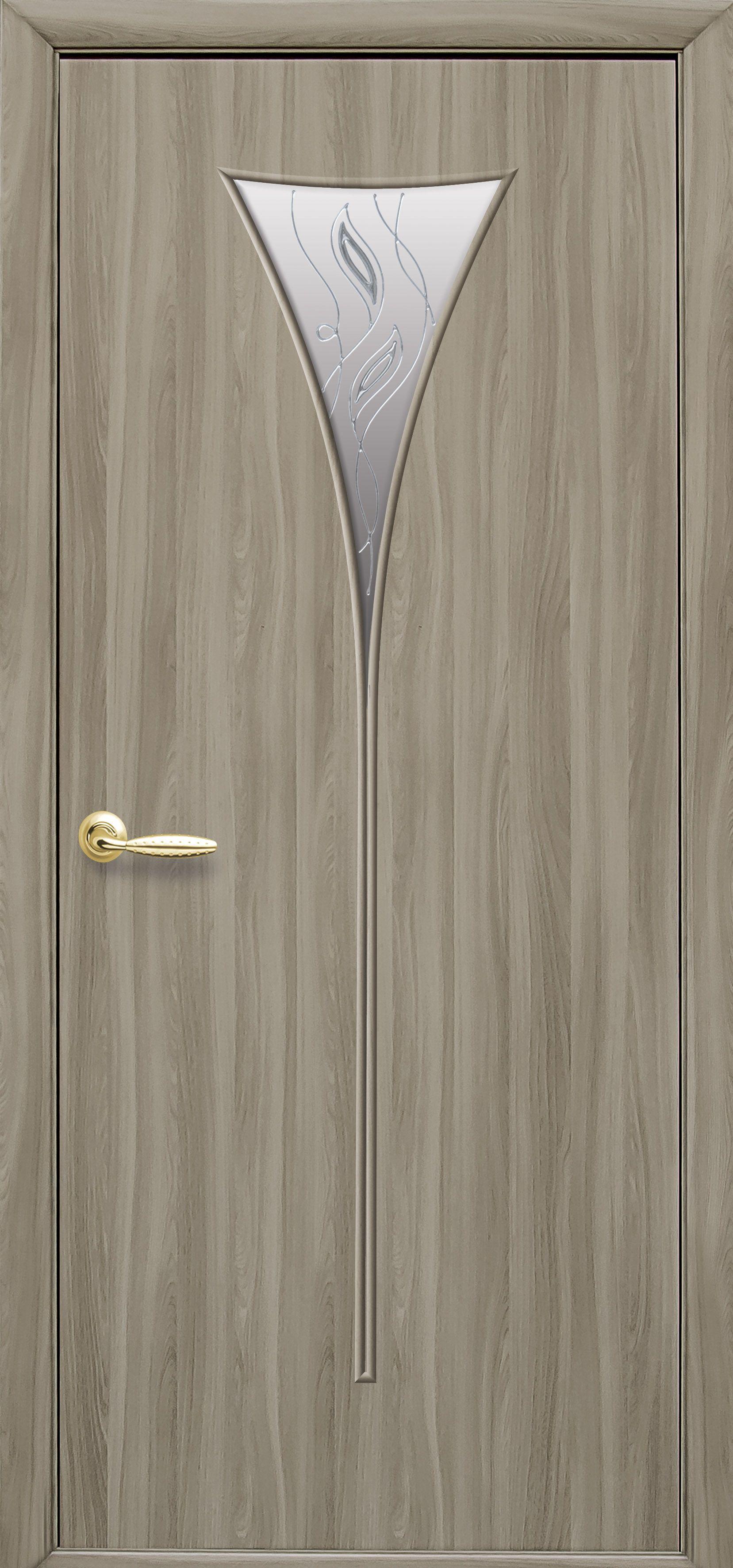 Межкомнатные двери Бора со стеклом сатин и рисунком Р2