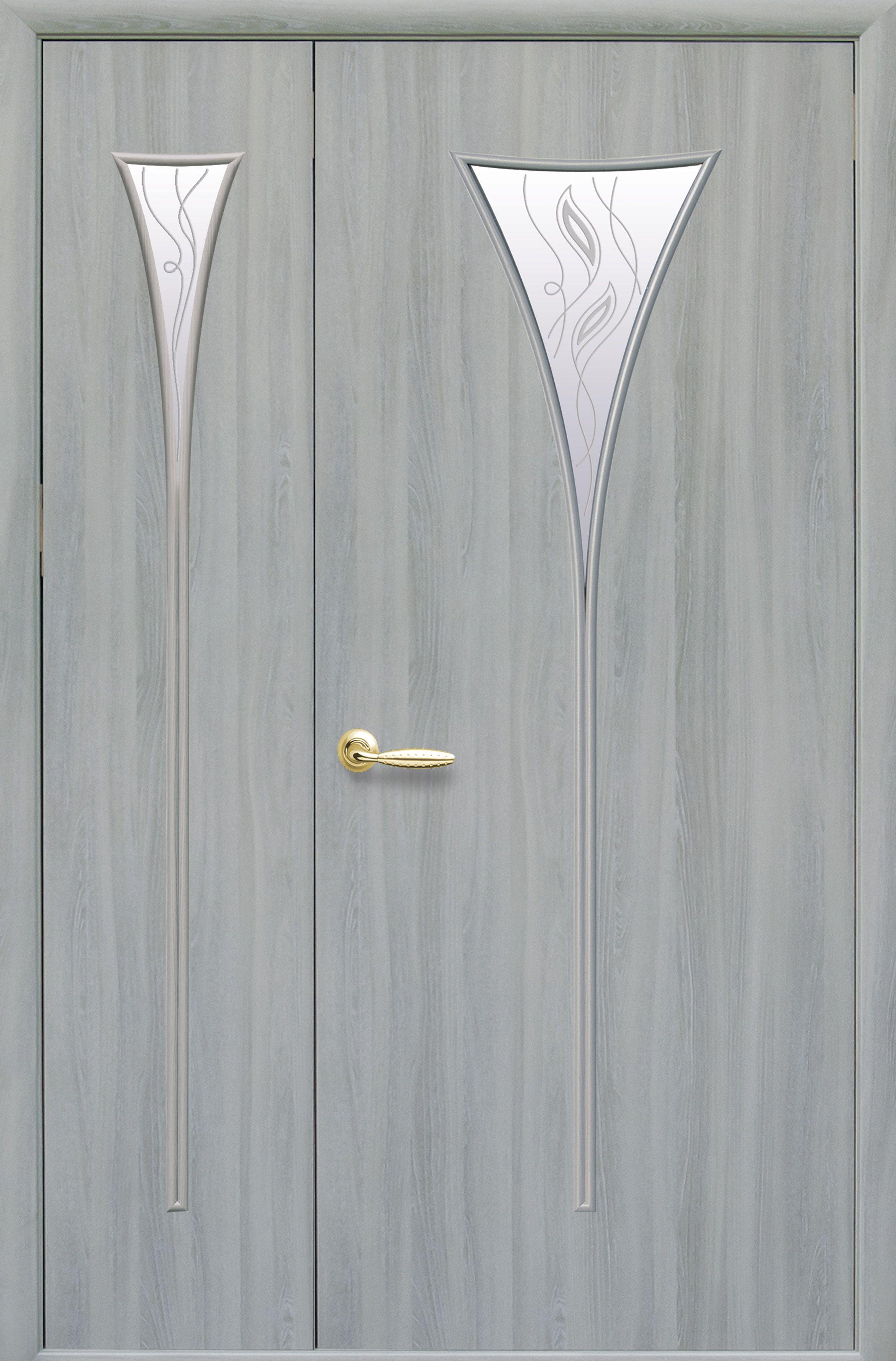 Межкомнатные двери Бора со стеклом сатин и рисунком