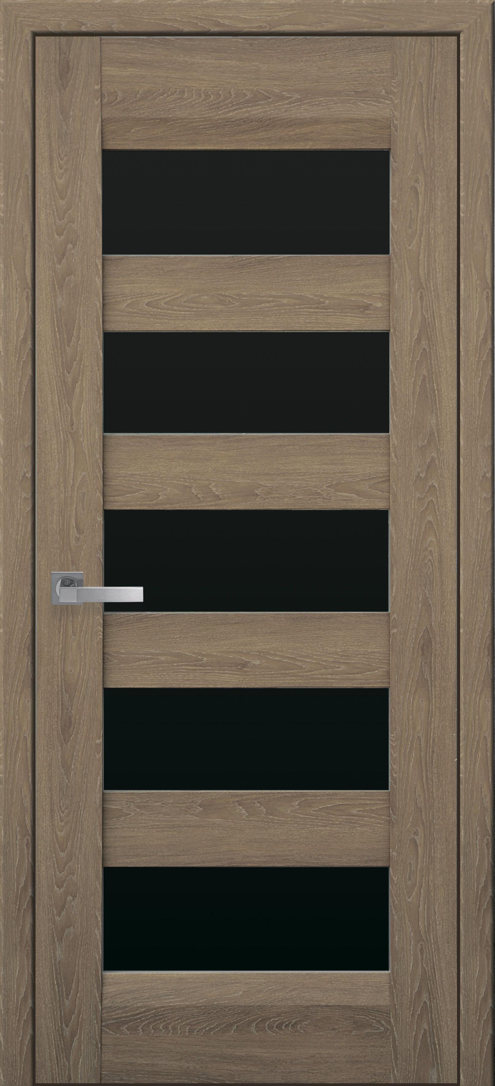 Межкомнатные двери Бронкс с черным стеклом