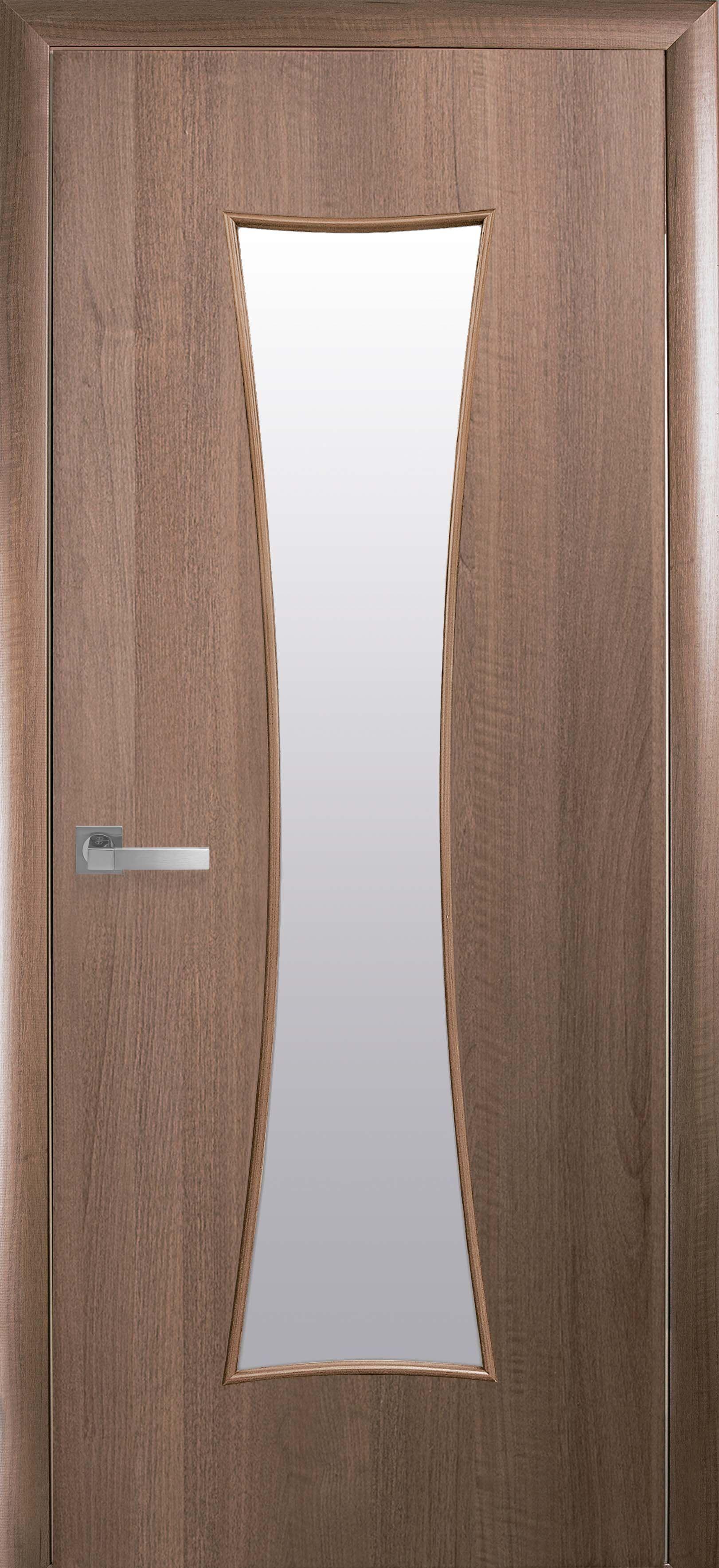Межкомнатные двери Часы со стеклом сатин