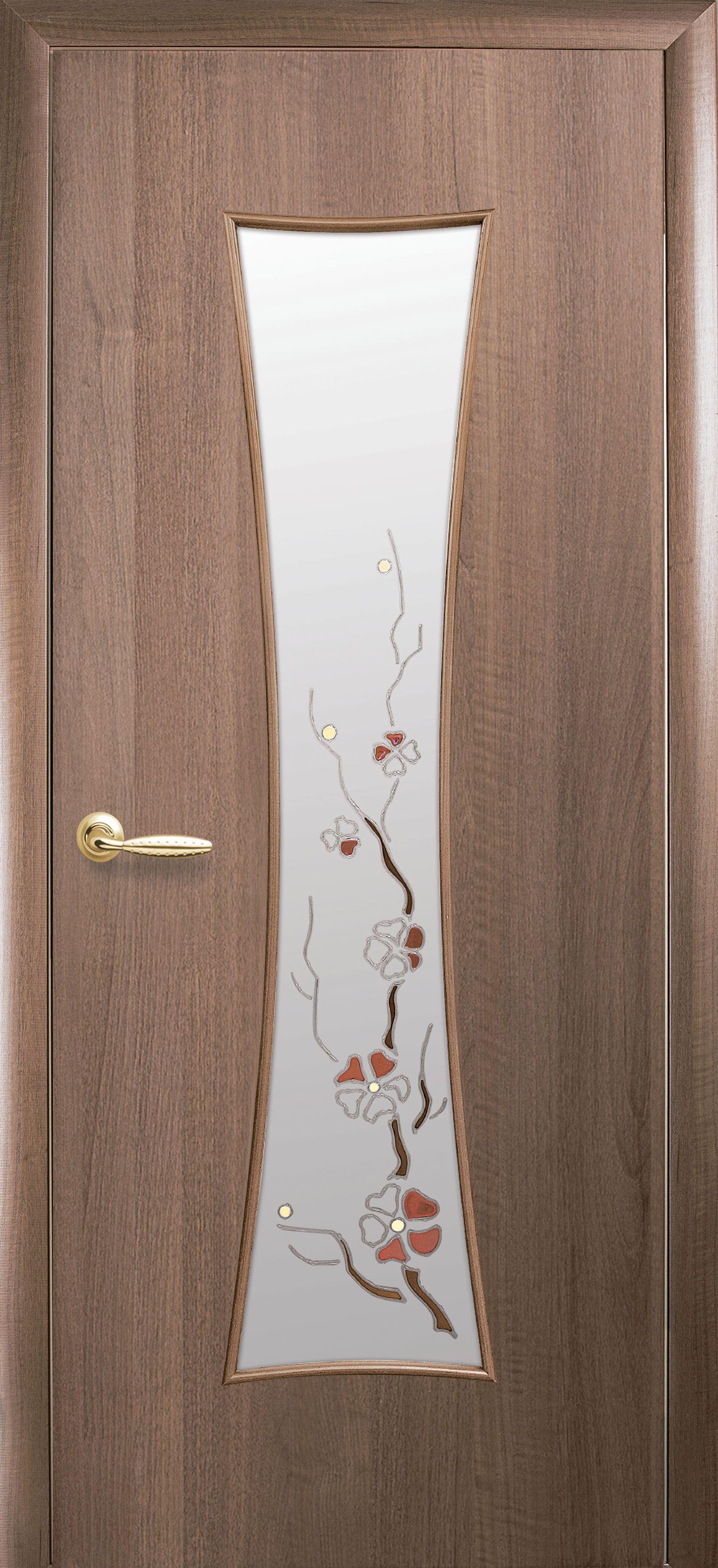 Межкомнатные двери Часы со стеклом сатин и рисунком