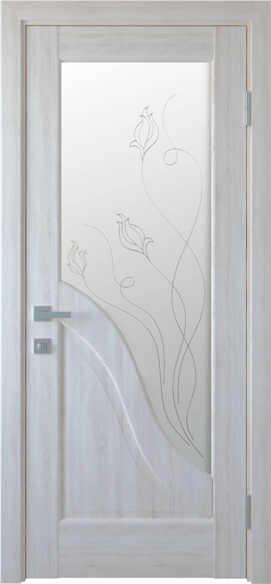 Межкомнатные двери Амата со стеклом сатин и рисунком Р2