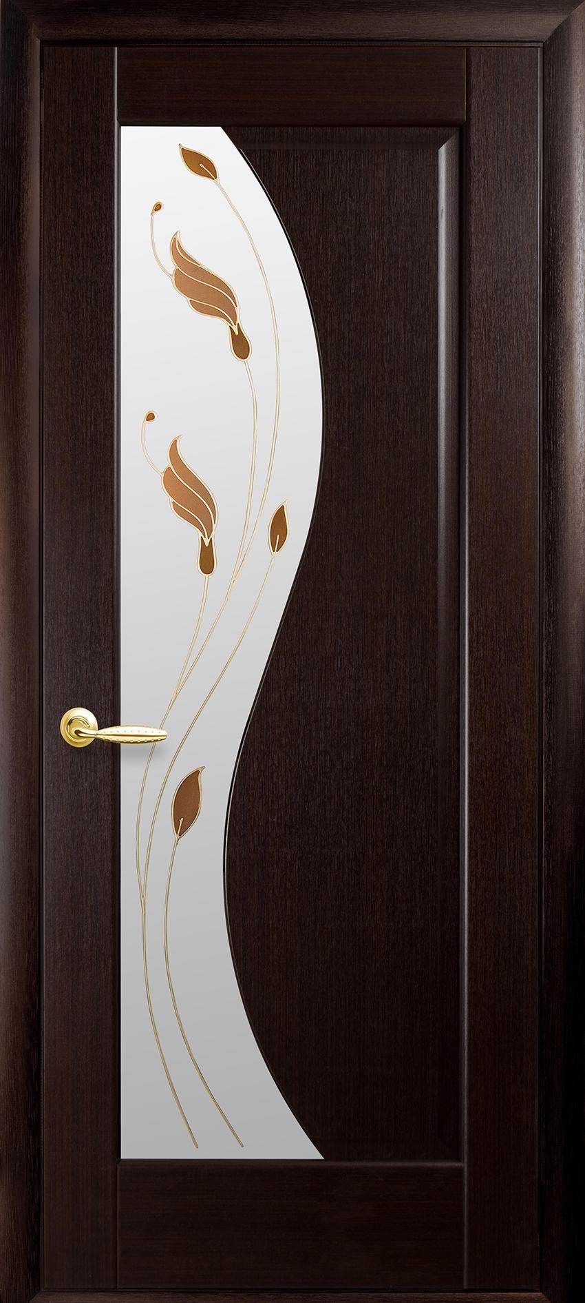 Межкомнатные двери Эскада со стеклом сатин и рисунком Р1