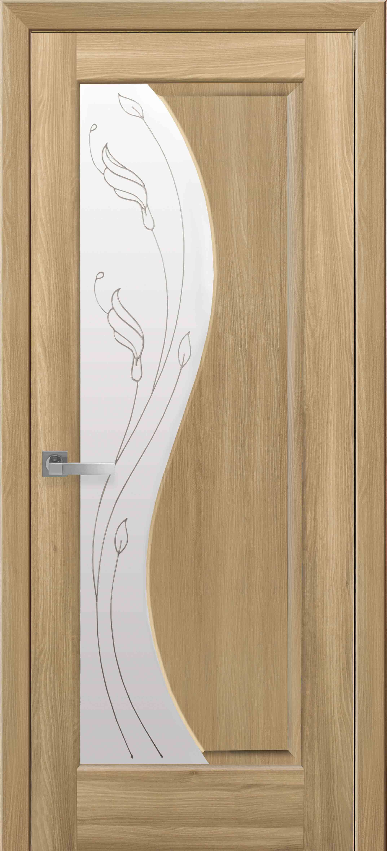 Межкомнатные двери Эскада со стеклом сатин и рисунком