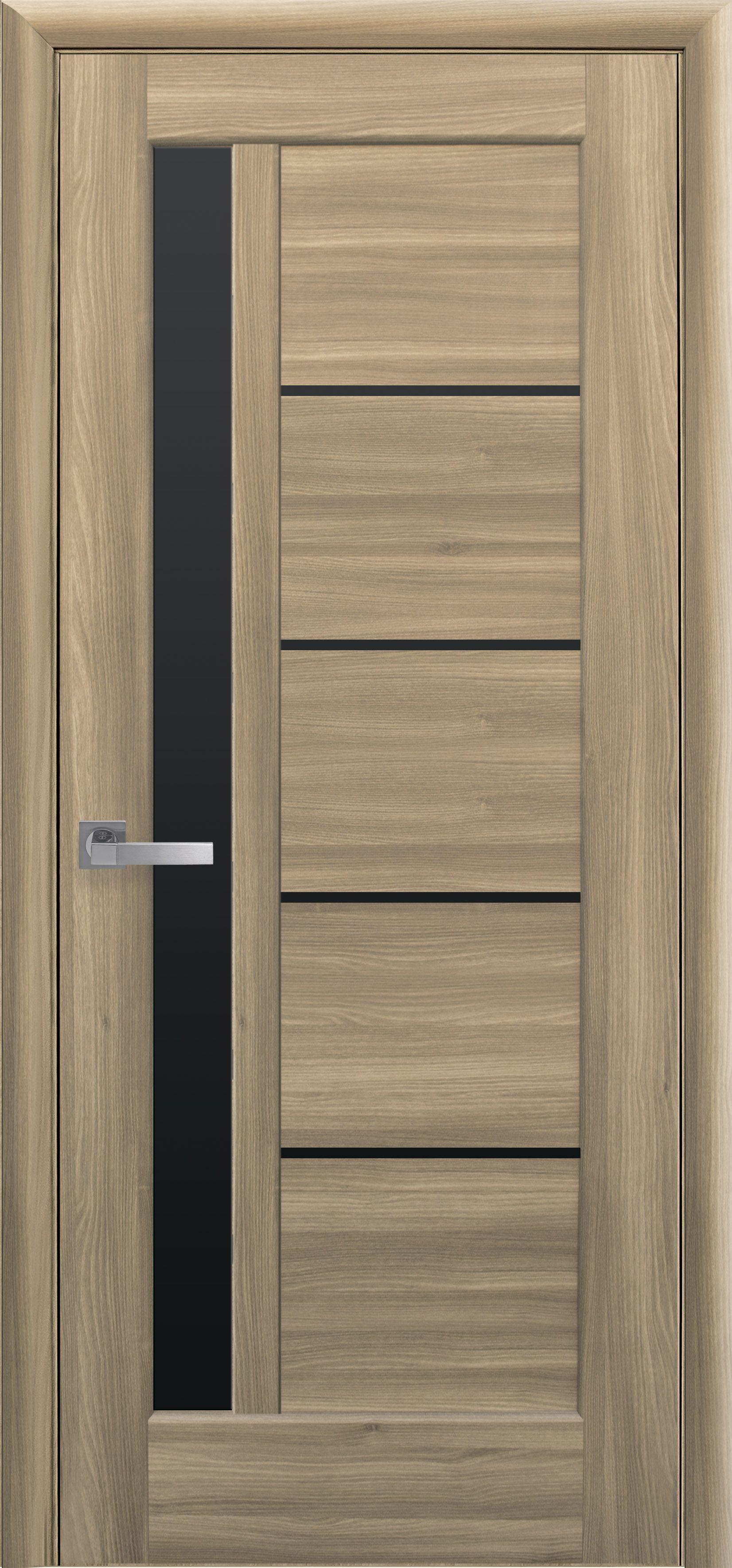 Межкомнатные двери Грета с черным стеклом