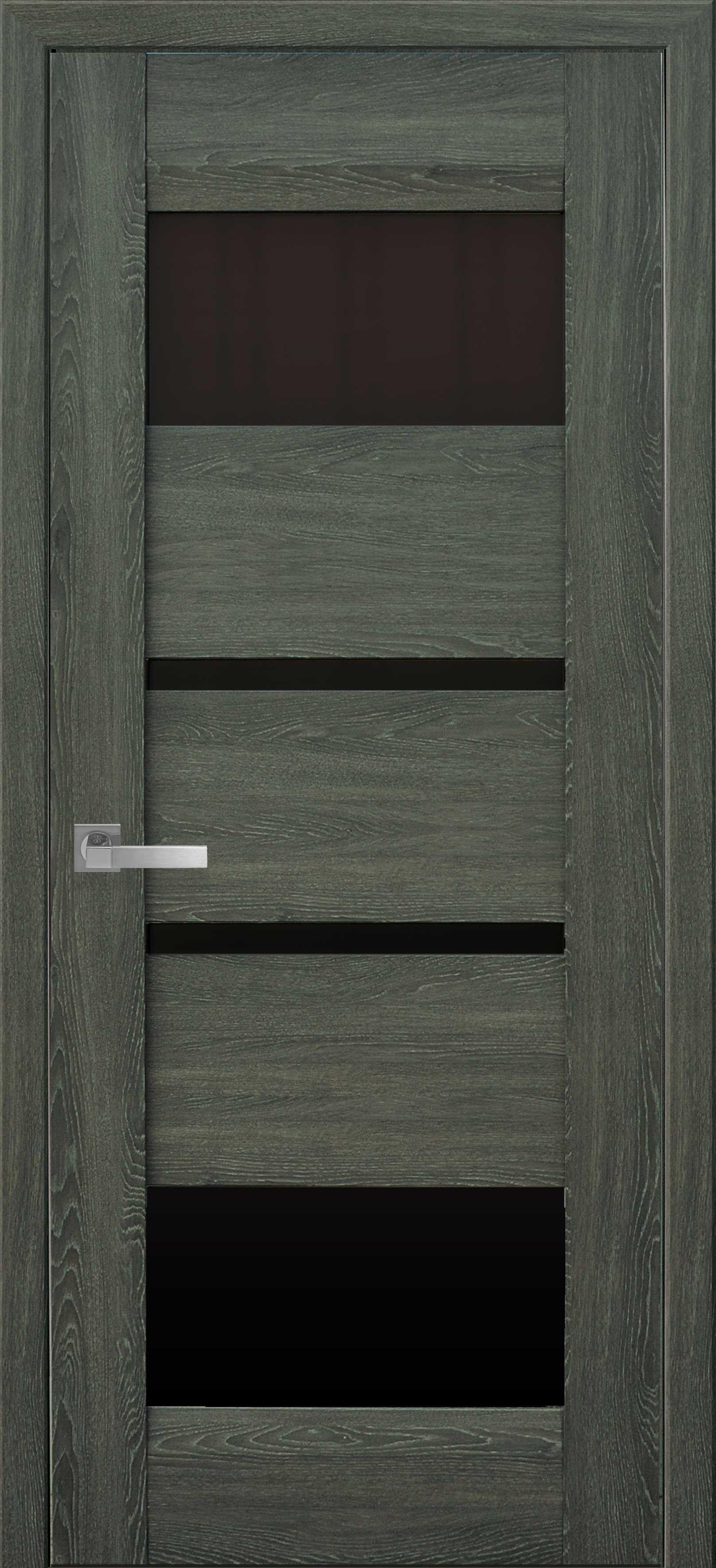 Межкомнатные двери Ибица с черным стеклом