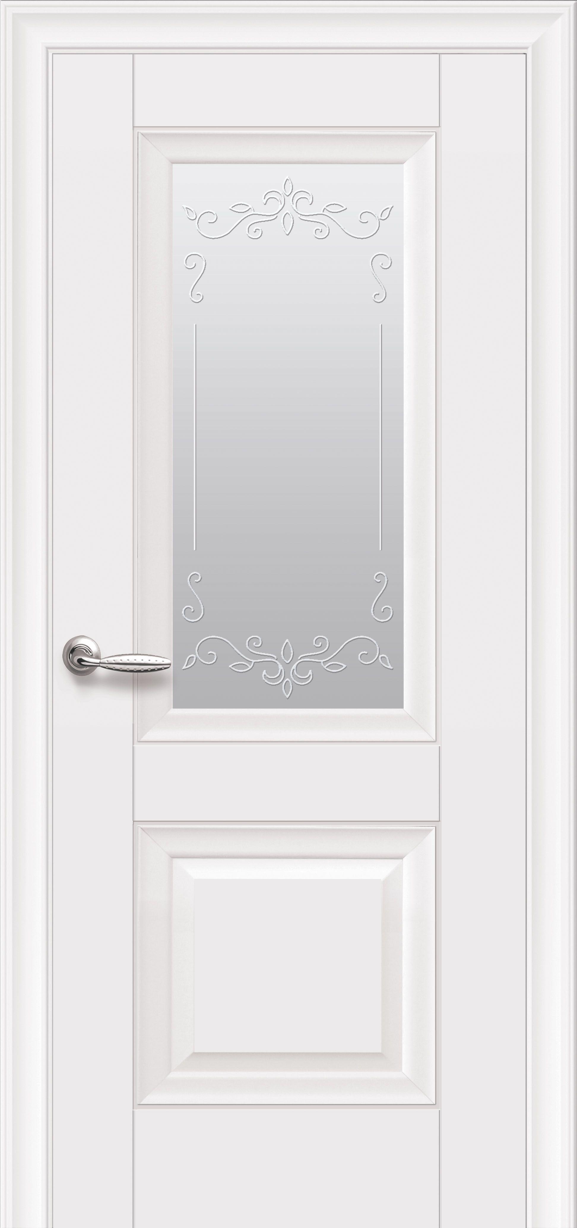 Межкомнатные двери Image без молдинга со стеклом сатин и рисунком