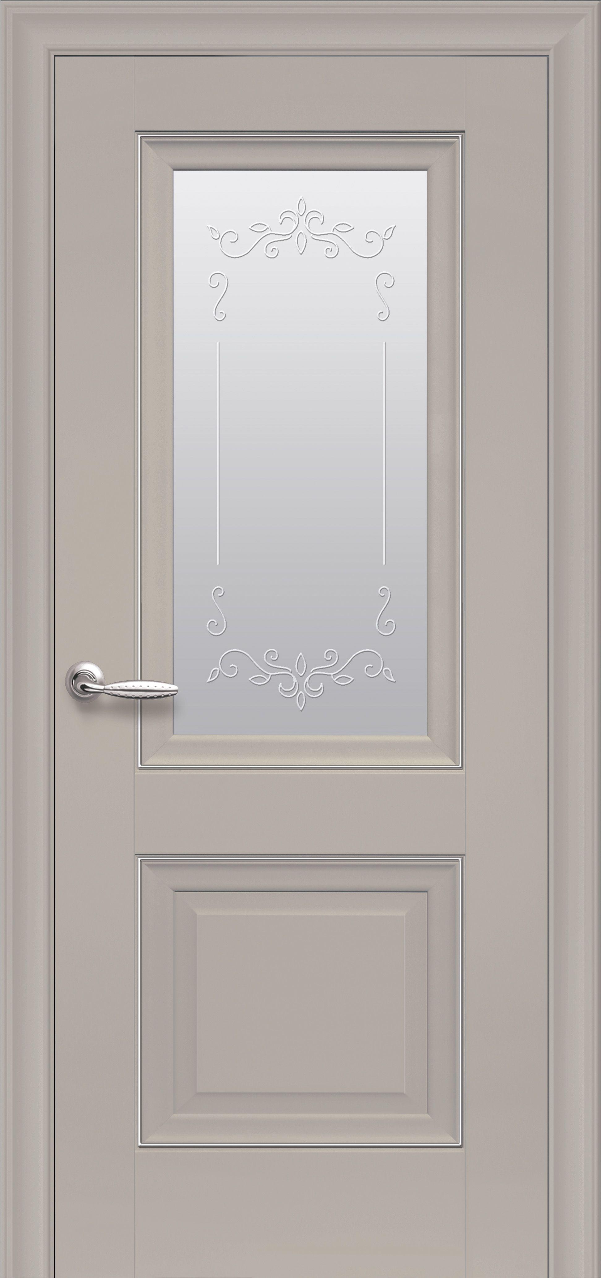 Межкомнатные двери Имидж Со стеклом сатин, молдингом и рисунком