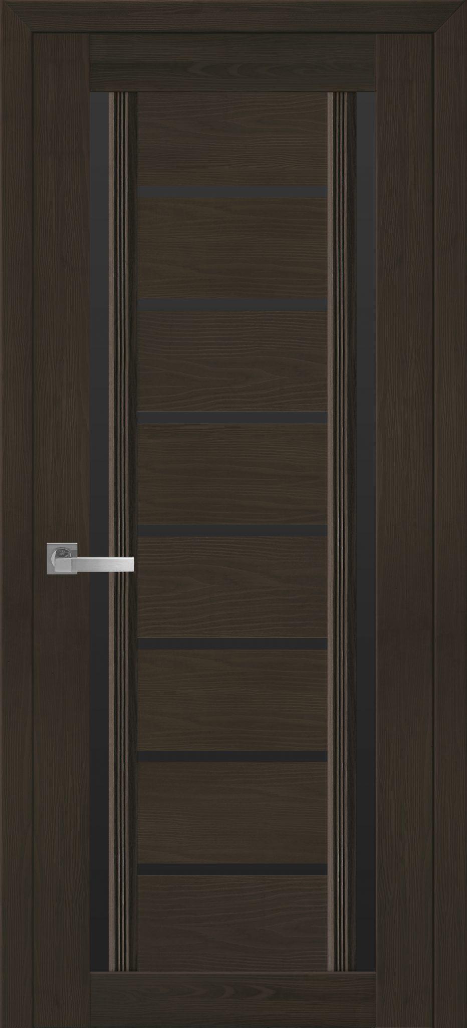 Межкомнатные двери Флоренция С2 с черным стеклом