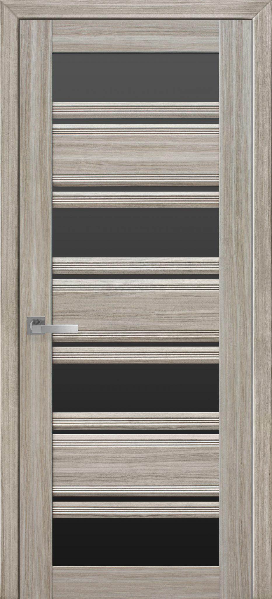 Межкомнатные двери Венеция С2 с черным стеклом