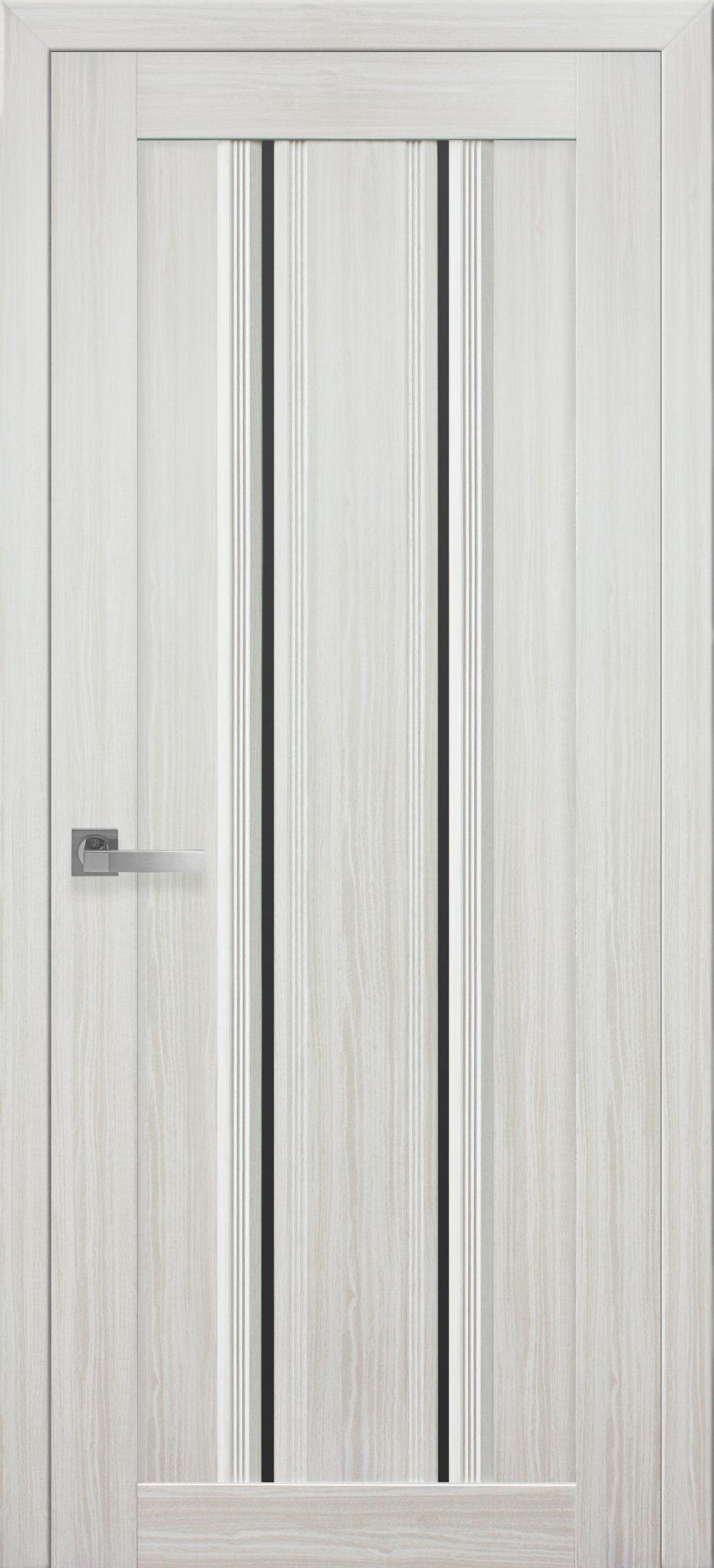 Межкомнатные двери Верона С1 с черным стеклом