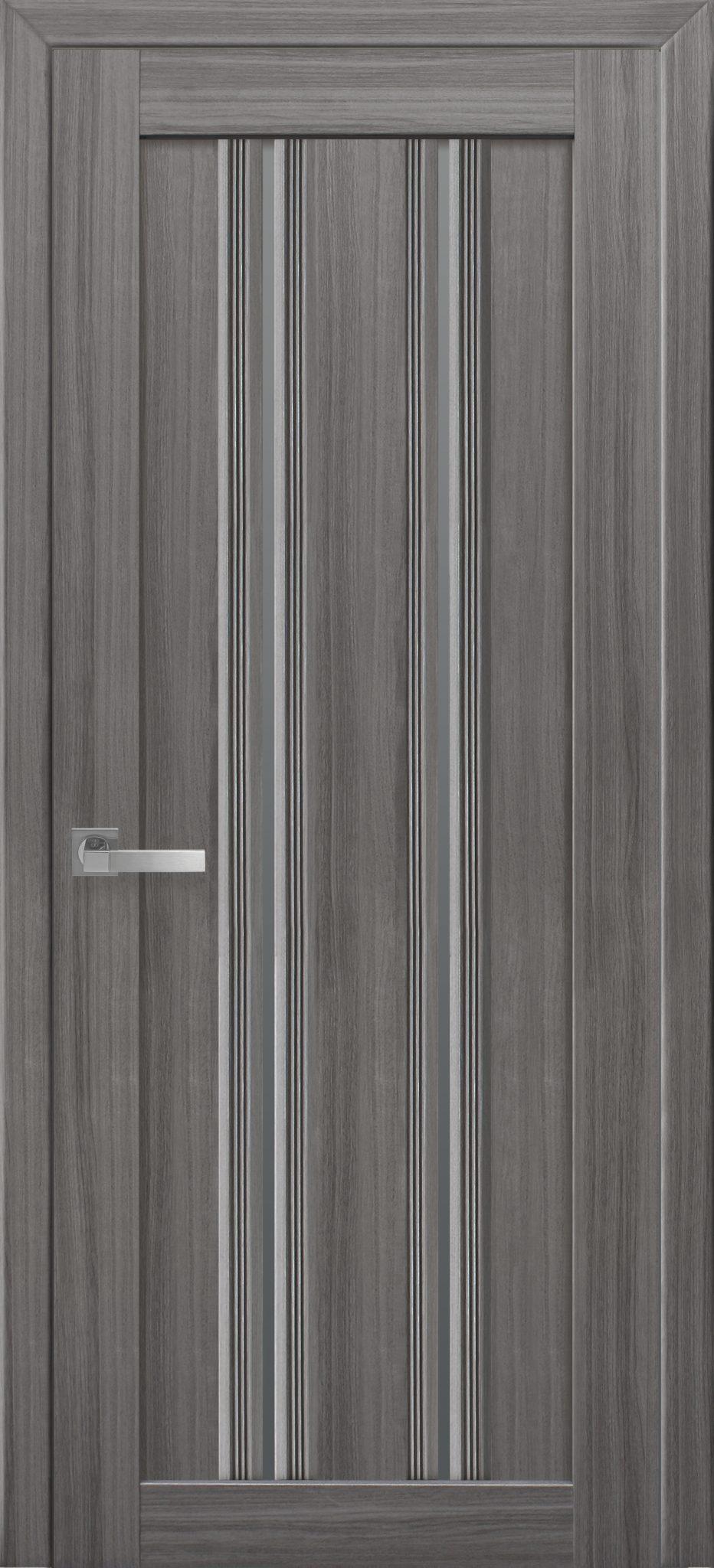 Межкомнатные двери Верона С1 с графитовым стеклом