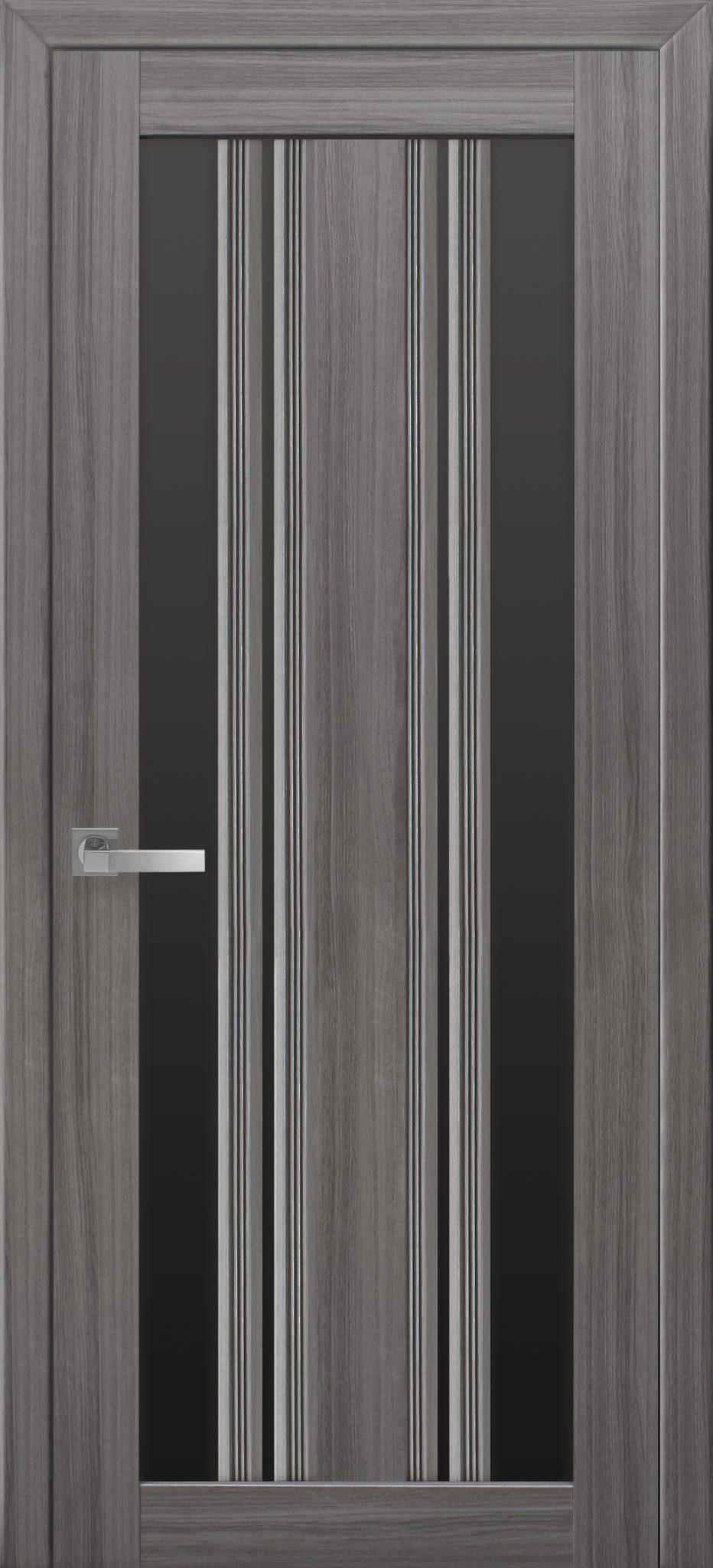Межкомнатные двери Верона С2 с черным стеклом