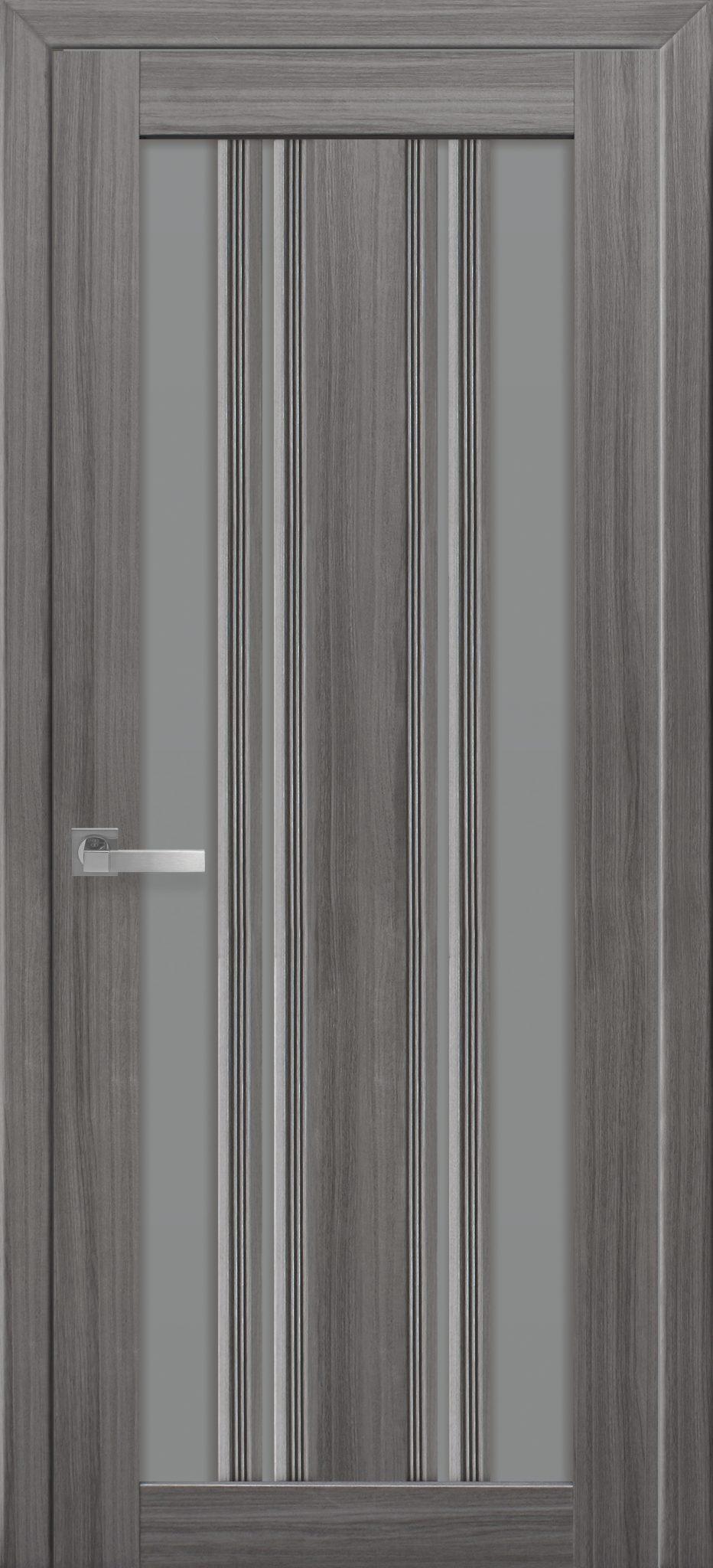 Межкомнатные двери Верона С2 с графитовым стеклом