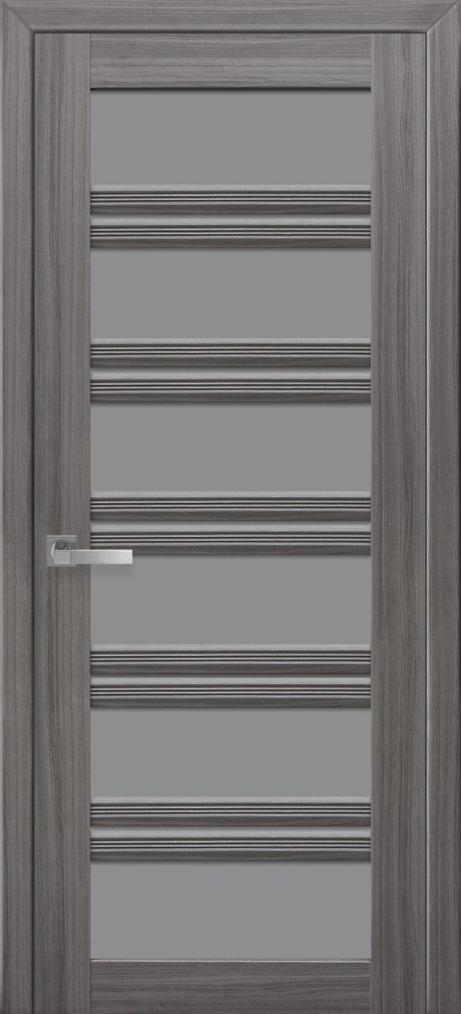 Межкомнатные двери Виченца С2 с графитовым стеклом