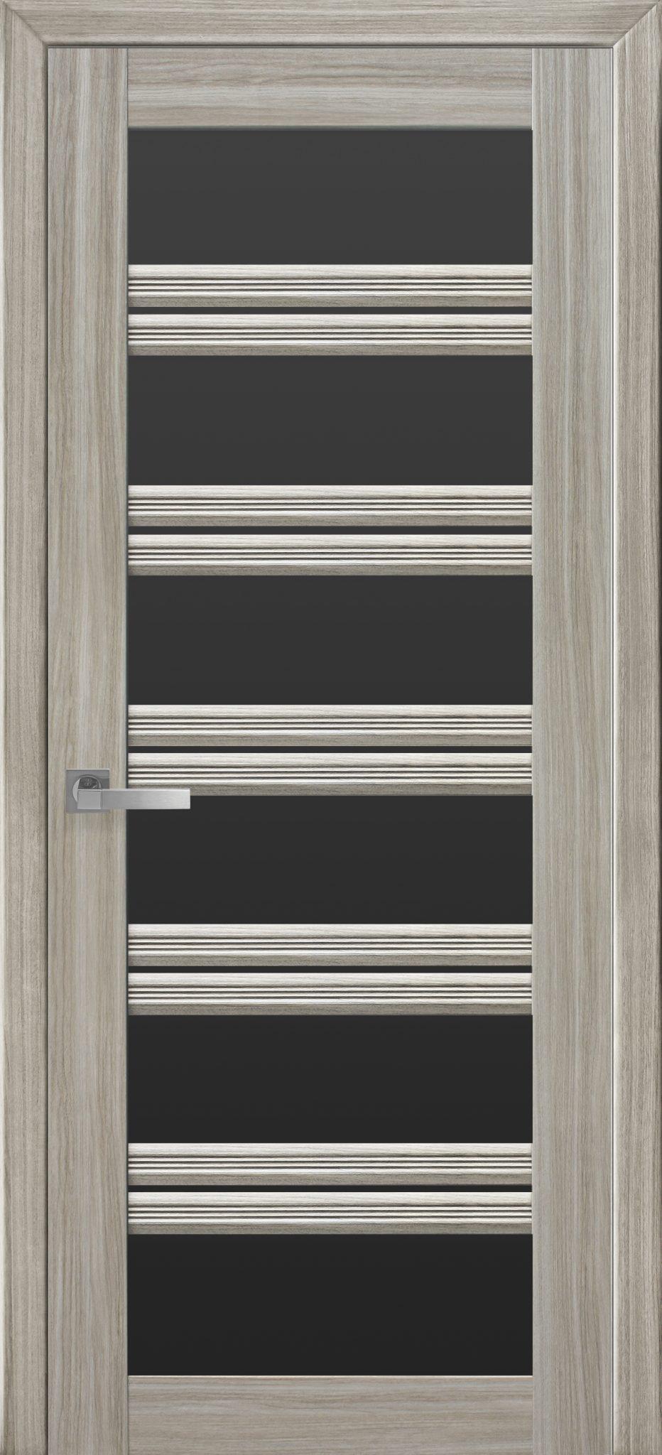 Межкомнатные двери Виченца С2 с черным стеклом