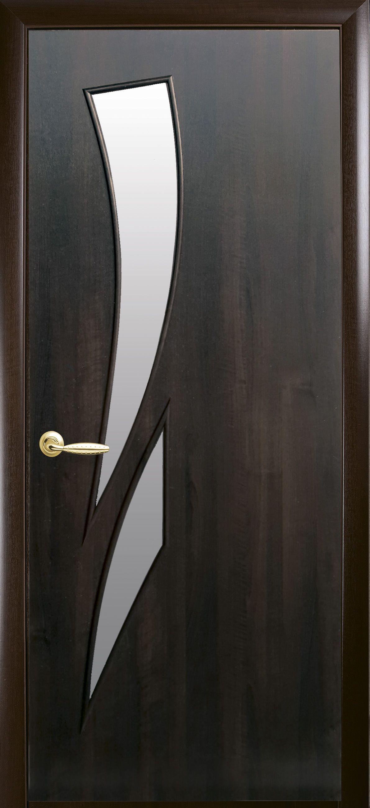 Межкомнатные двери Камея со стеклом сатин