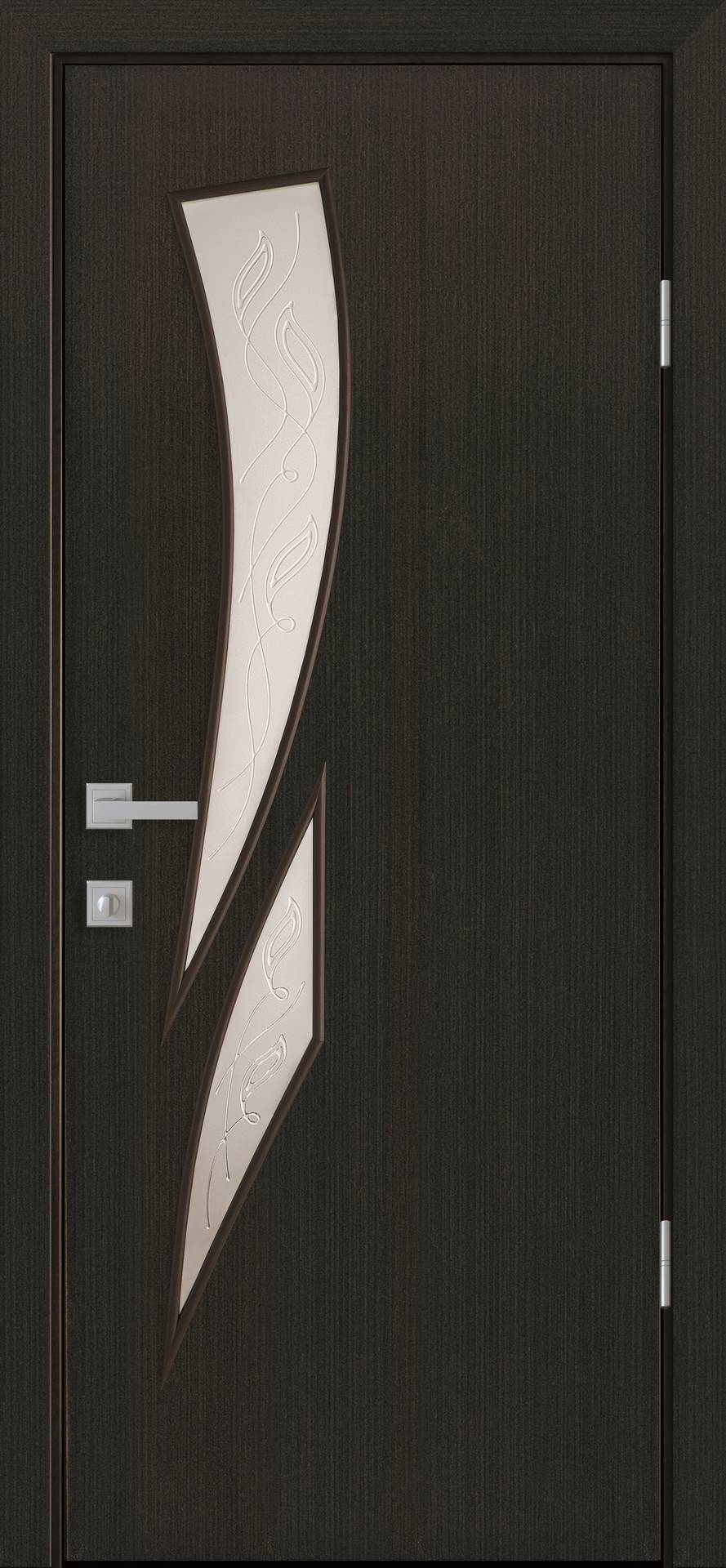 Межкомнатные двери Камея со стеклом сатин и рисунком