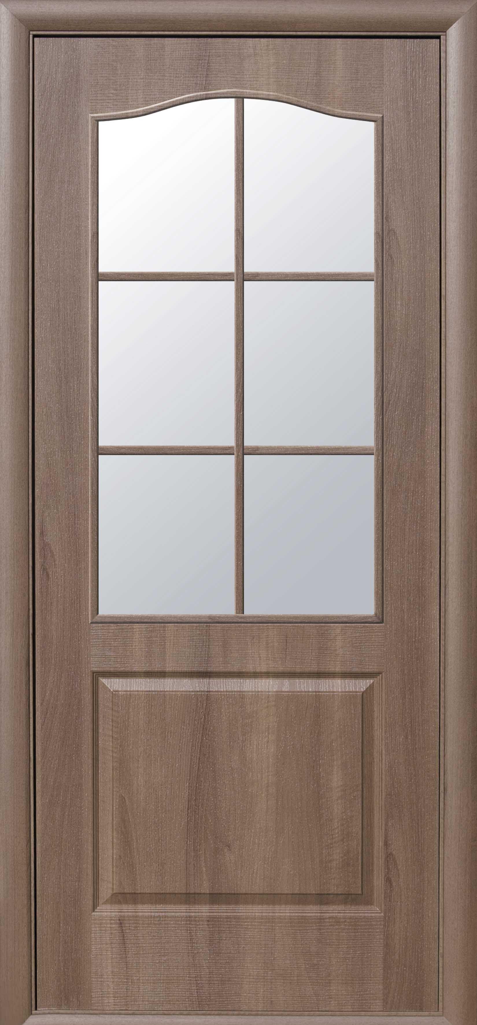 Межкомнатные двери Классик со стеклом сатин