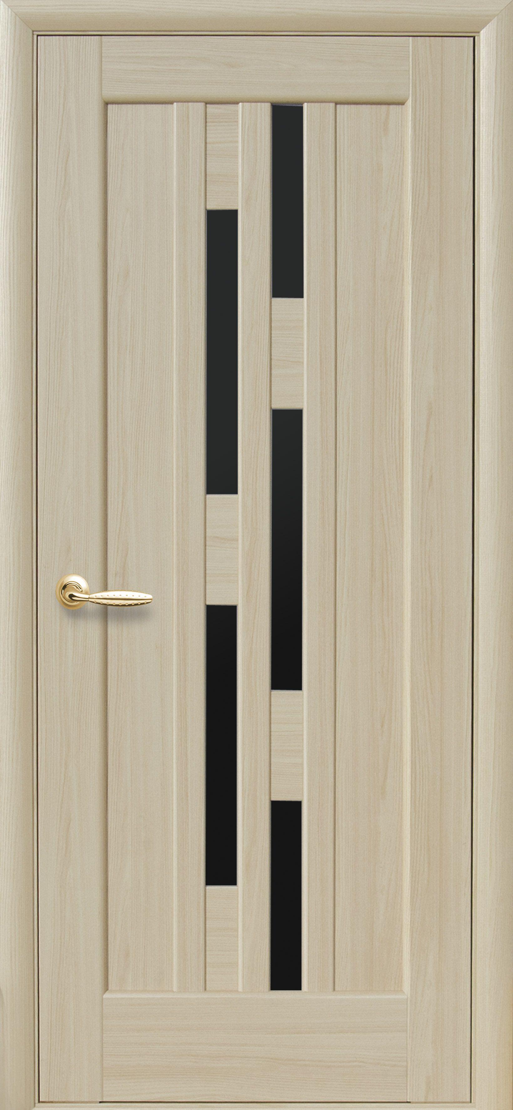 Межкомнатные двери Лаура с черным стеклом